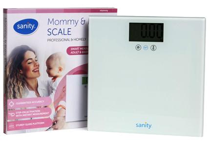 Cân sức khỏe điện tử cho mẹ và bé Sanity S6401.ENG