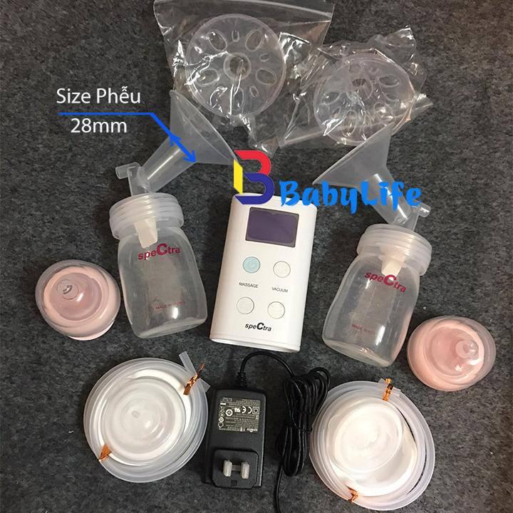 Máy hút sữa Spectra 9 plus kèm quà tặng và đổi chọn size phễu