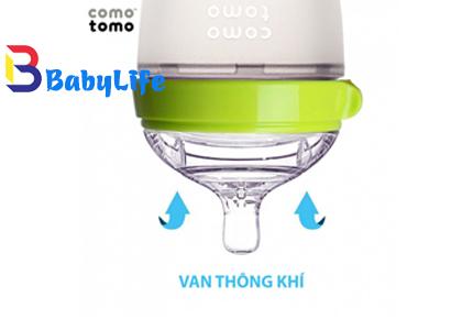 Bình sữa comotomo 150ml- Xanh