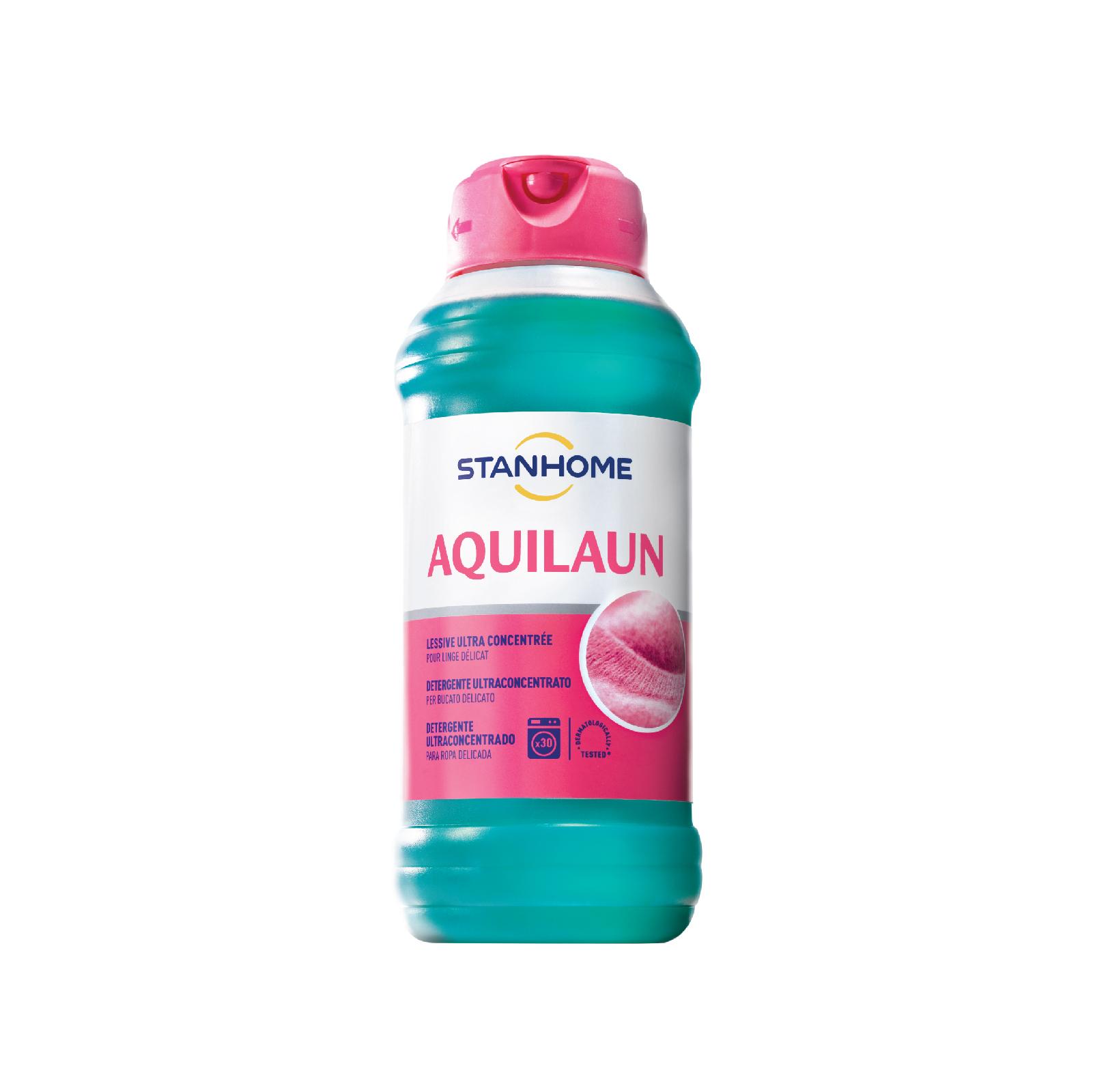 Nước giặt đậm đặc cho đồ len, lụa trắng và sáng màu hương gỗ Stanhome Aquilaun 750ml