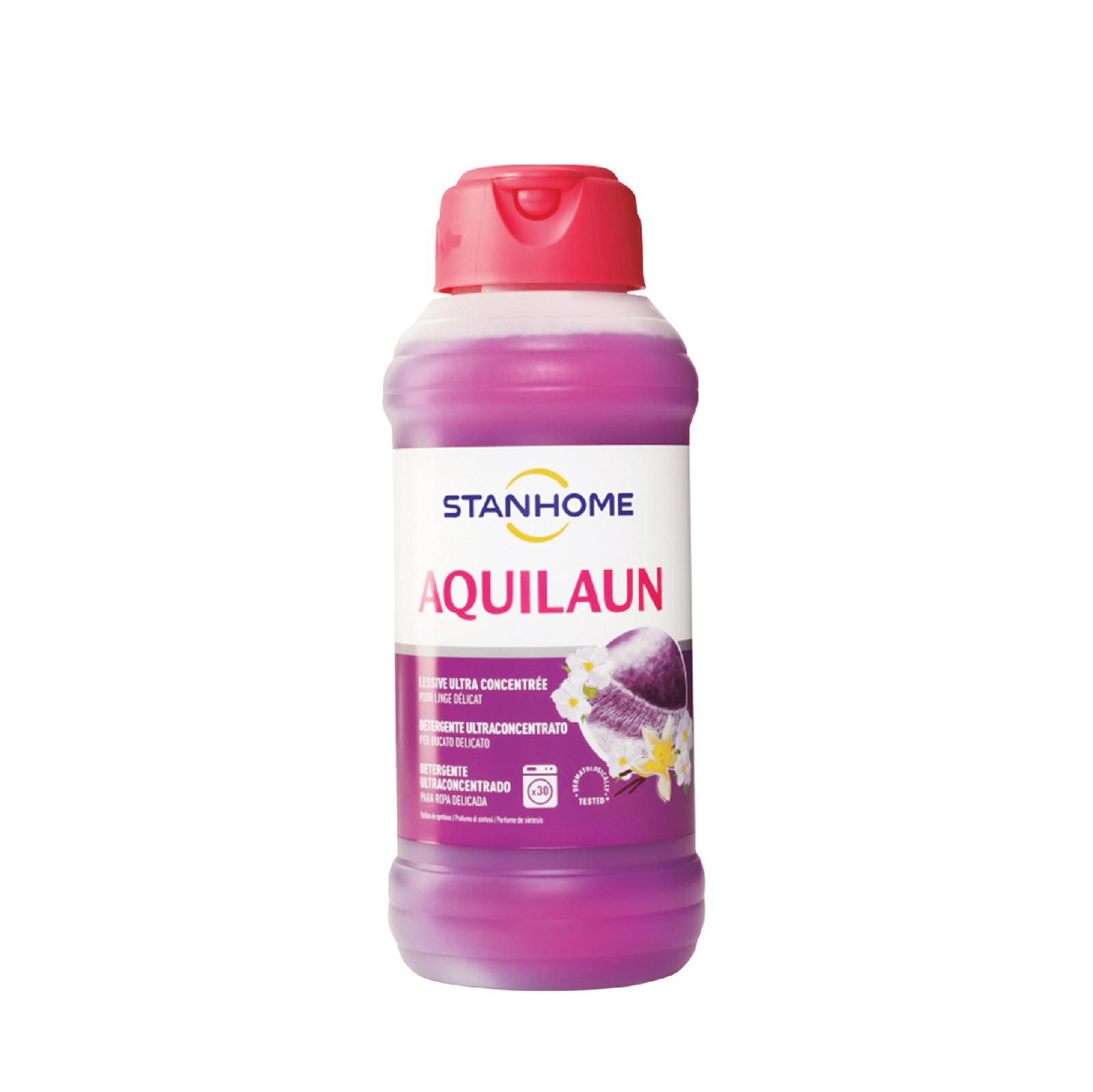 Nước giặt đậm đặc cho đồ len, lụa trắng và sáng màu Stanhome Aquilaun 750ml