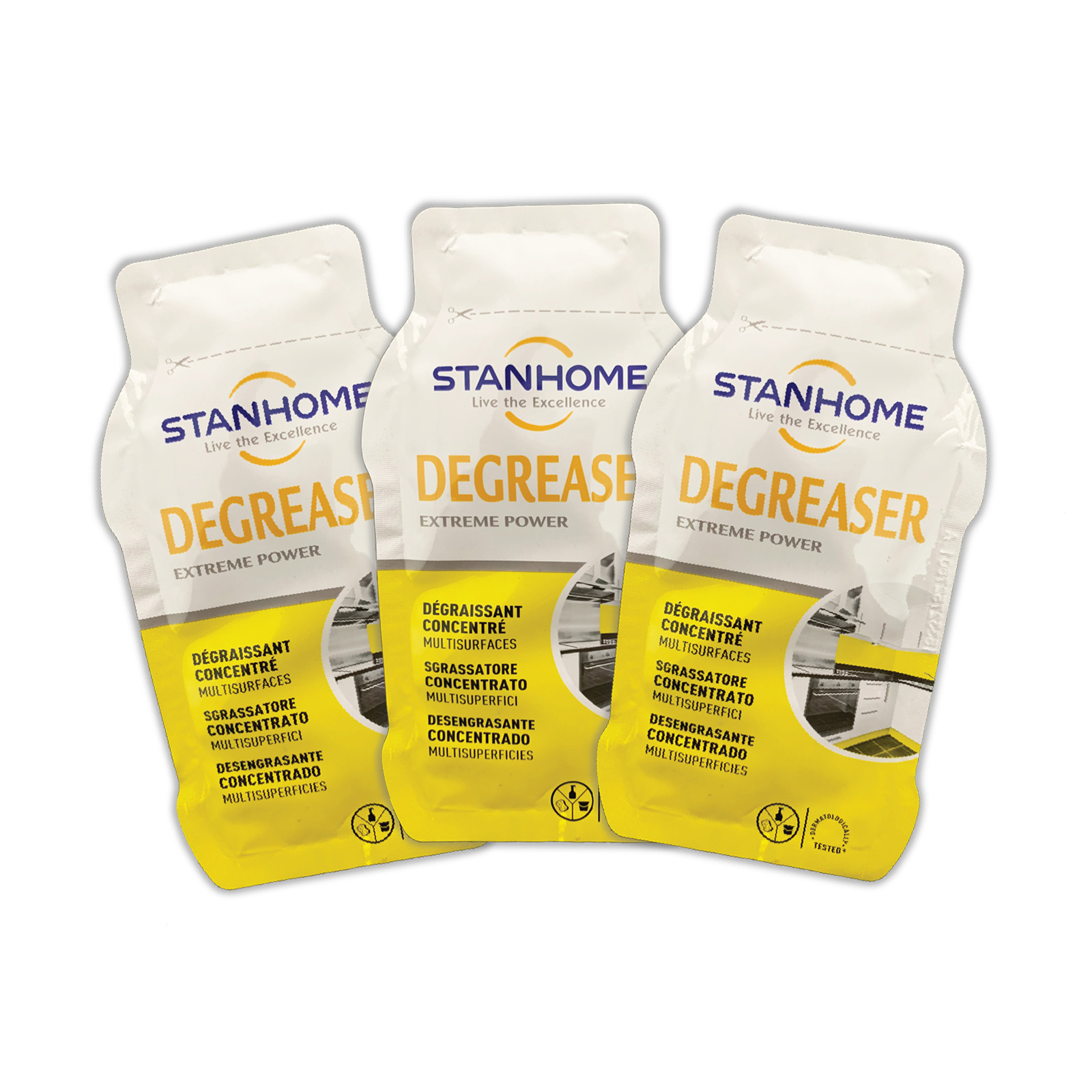 Set 3 Gói mẫu dùng thử Dung dịch loại bỏ dầu mỡ đa năng Stanhome Degreaser 20ml/gói