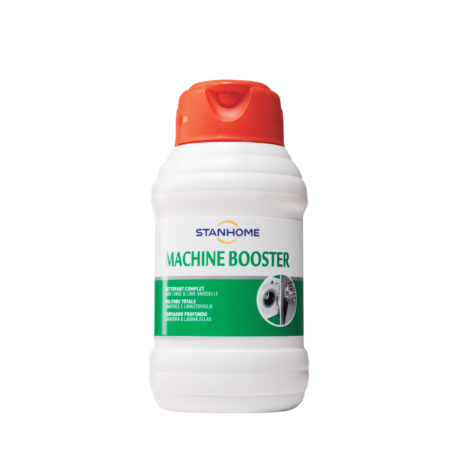 Dung dịch vệ sinh lồng giặt, máy rửa chén Stanhome Machine Booster 500ml