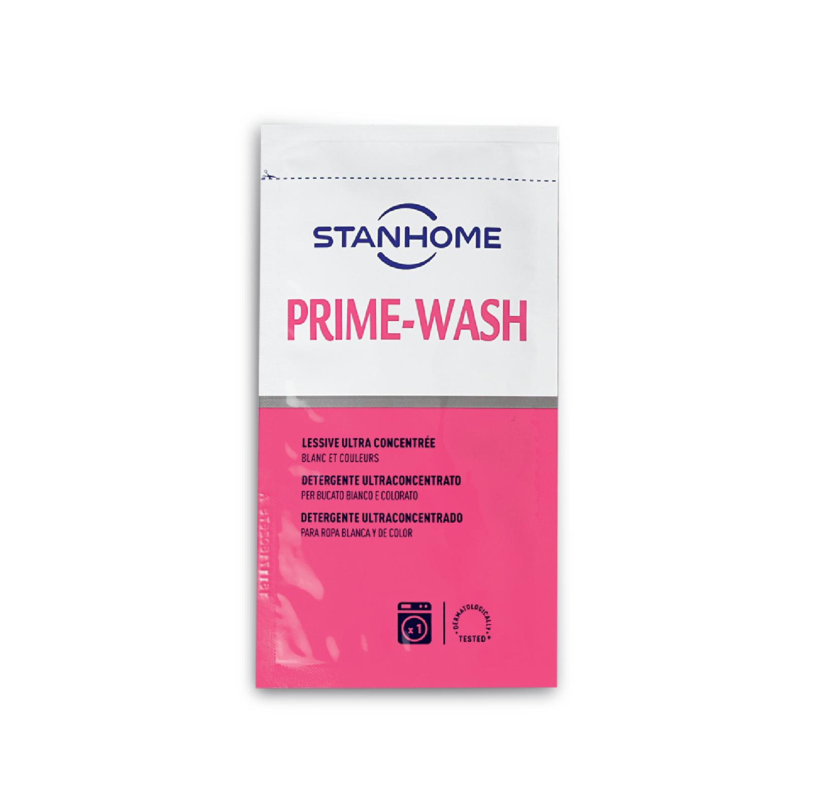 Gói mẫu dùng thử Nước giặt đậm đặc cho đồ trắng và sáng màu Stanhome Prime Wash Extra 25ml