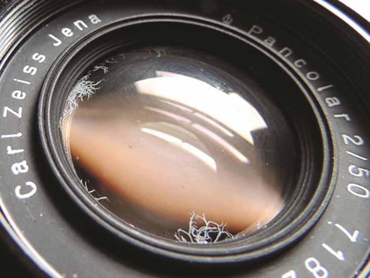 Tình trạng ống kính máy ảnh bị mốc rễ tre