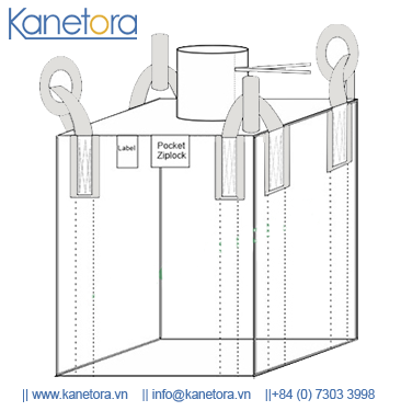 Ringing Belt FIBC Bulk Bags (Extended Belt)