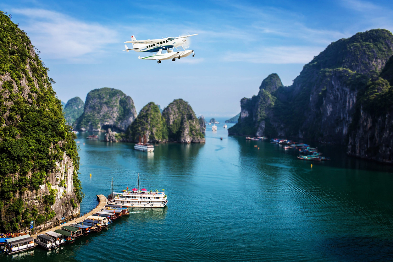 Sea Plane in Halong Bay