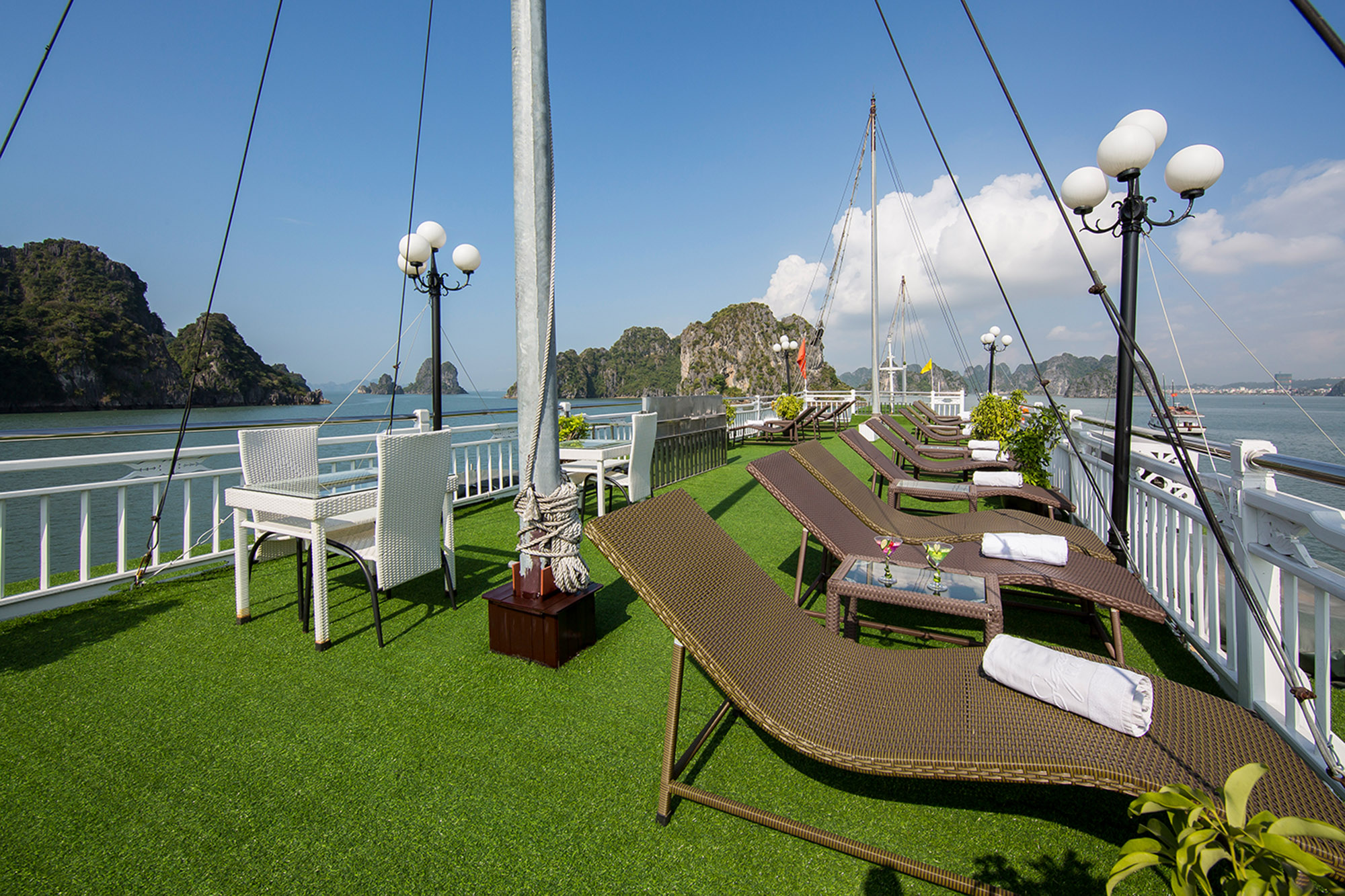Sundeck on Signature Ha Long Cruise