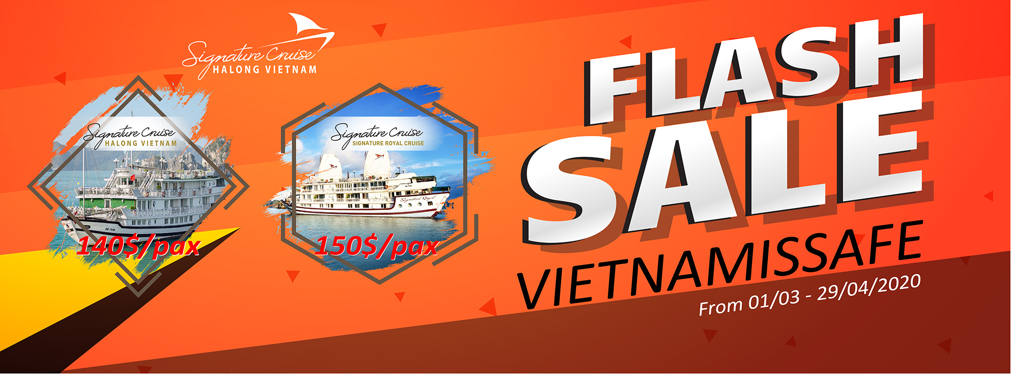 VIETNAMISSAFE Flash Promotions - Signature Halong Cruise