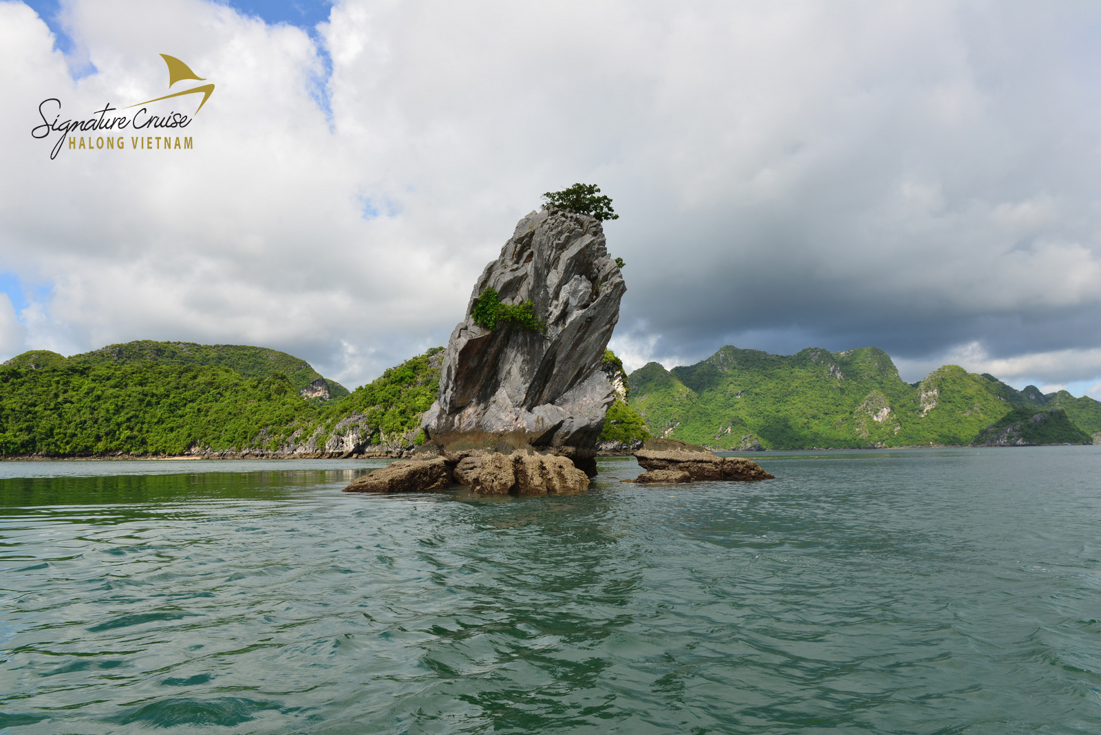 islands in Halong bay - con coc island