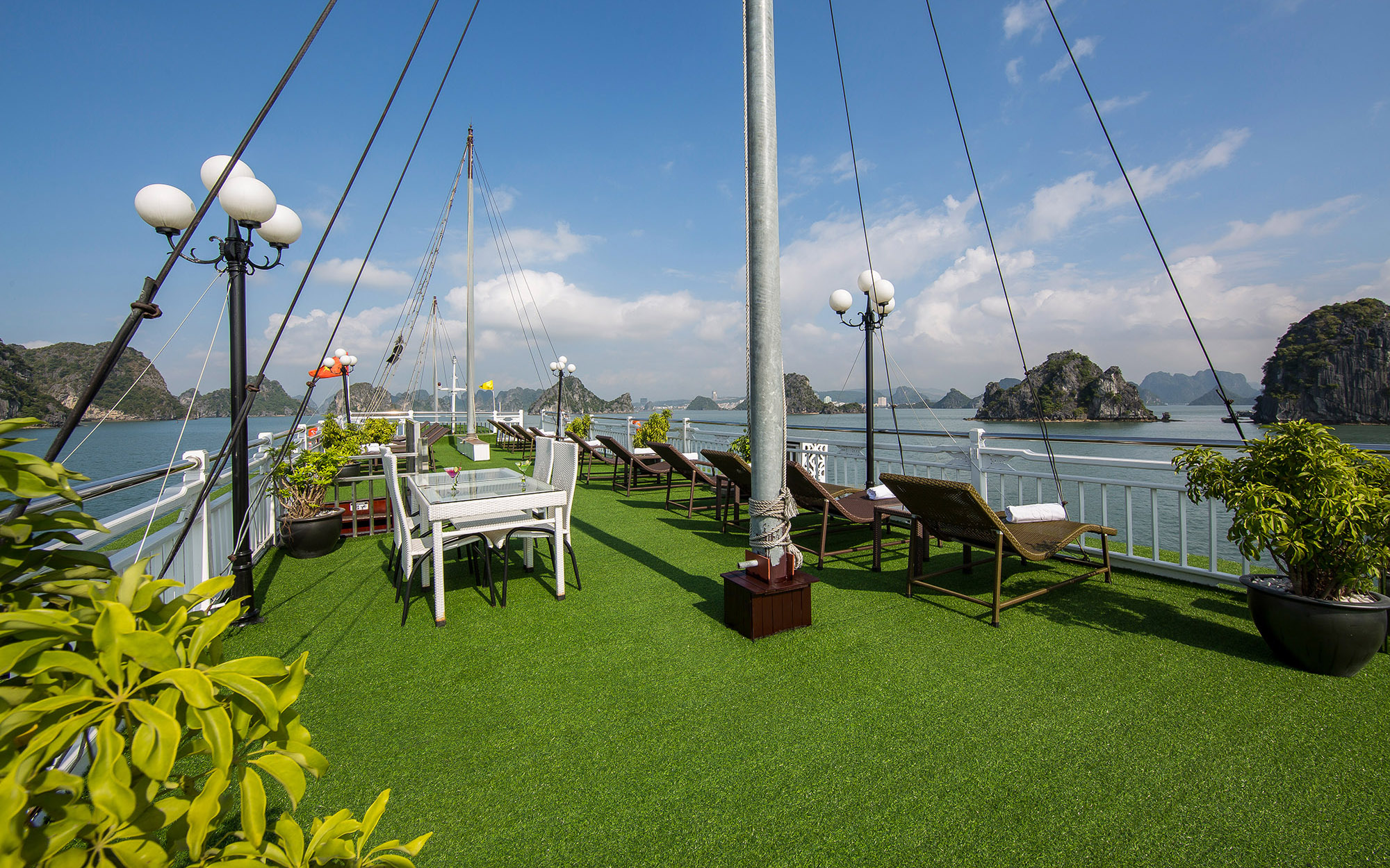 Sundeck on Signature HaLong Cruise
