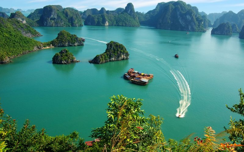 Tuan Chau Island in Ha Long Bay