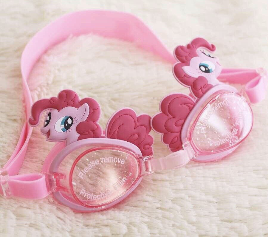 Kính bơi trẻ em chống tia UV hoạt hình Disney 3D Pony hồng M006