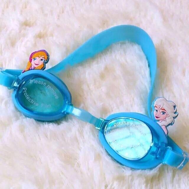 Kính bơi trẻ em chống tia UV hoạt hình Disney 3D Elsa Anna M004