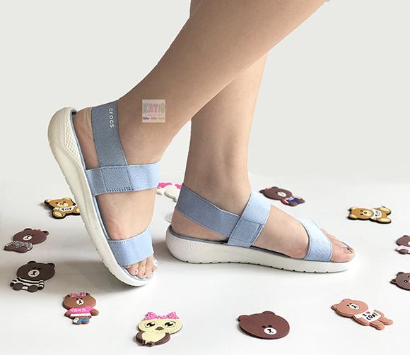 Giày sandal Literide màu xanh nhạt đế trắng
