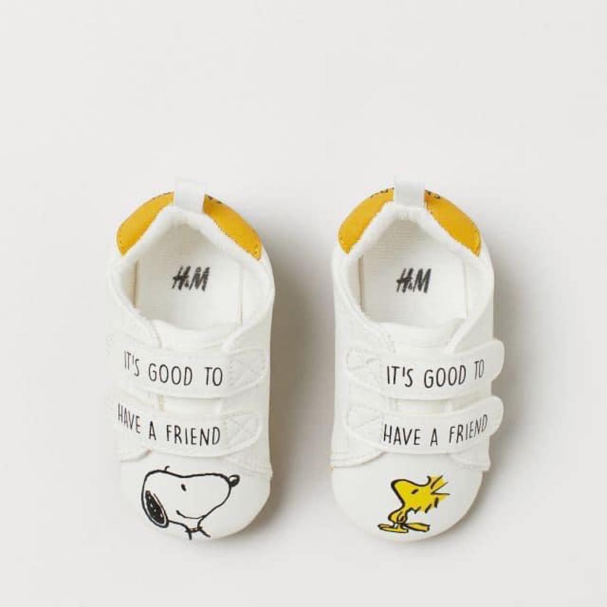 Giày tập đi cho bé màu trắng Snoopy Dog