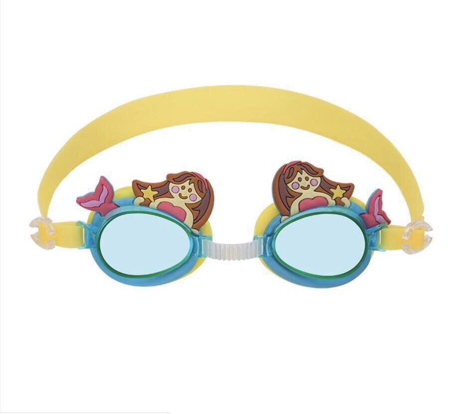 Kính bơi trẻ em chống tia UV hoạt hình Disney 3D tiên cá nằm màu vàng M011