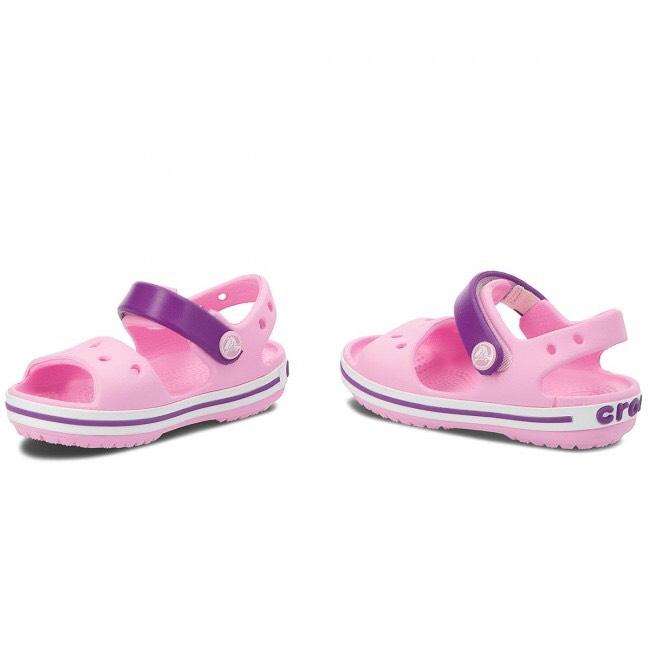 Giày sandal Baya cho bé màu hồng nhạt (tặng kèm 6 nút sticker gắn dép Crocs)