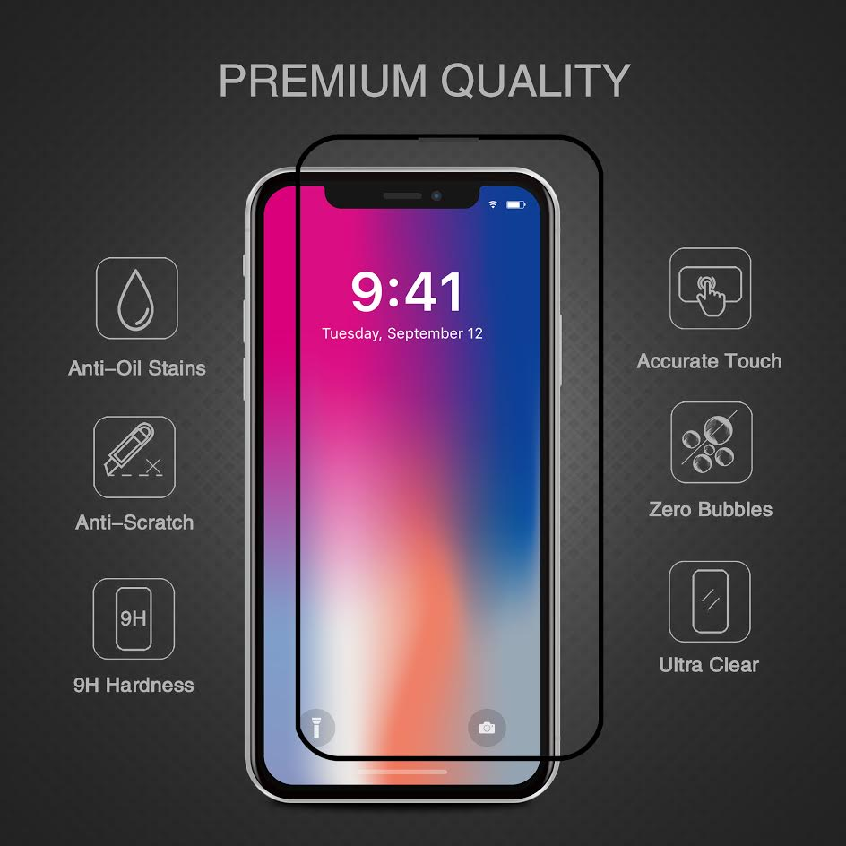 Cường lực cho Iphone X 3D full PRODA