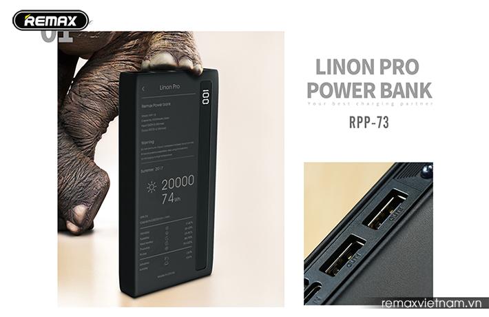 Pin sạc dự phòng 20000mAh Remax RPP - 73 10