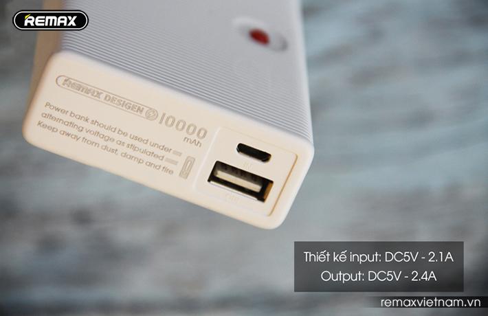Pin sạc dự phòng nhỏ gọn Remax RPP - 88 10000mAh 6