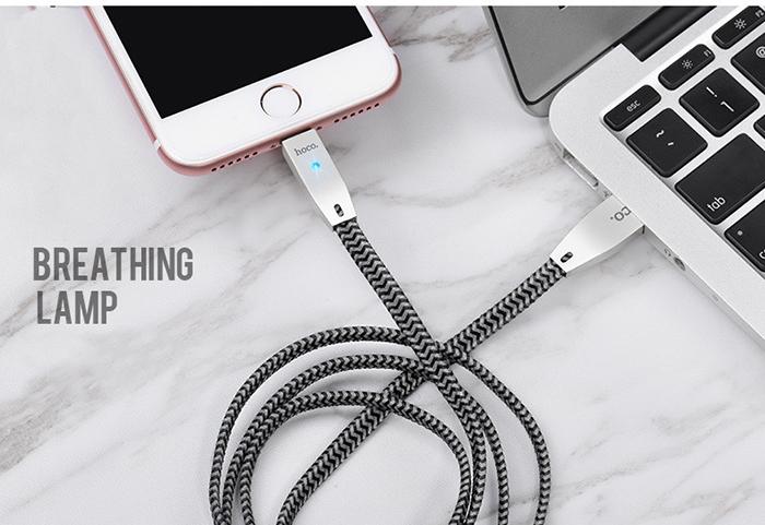 Dây cáp sạc tự ngắt Hoco U11 Lightning cho iphone 12
