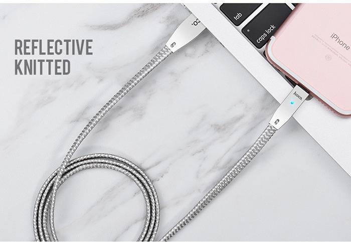 Dây cáp sạc tự ngắt Hoco U11 Lightning cho iphone 14