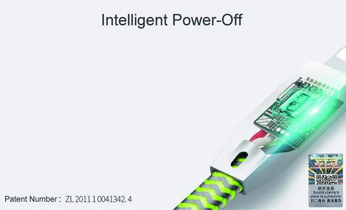 Dây cáp sạc tự ngắt Hoco U11 Lightning cho iphone 2