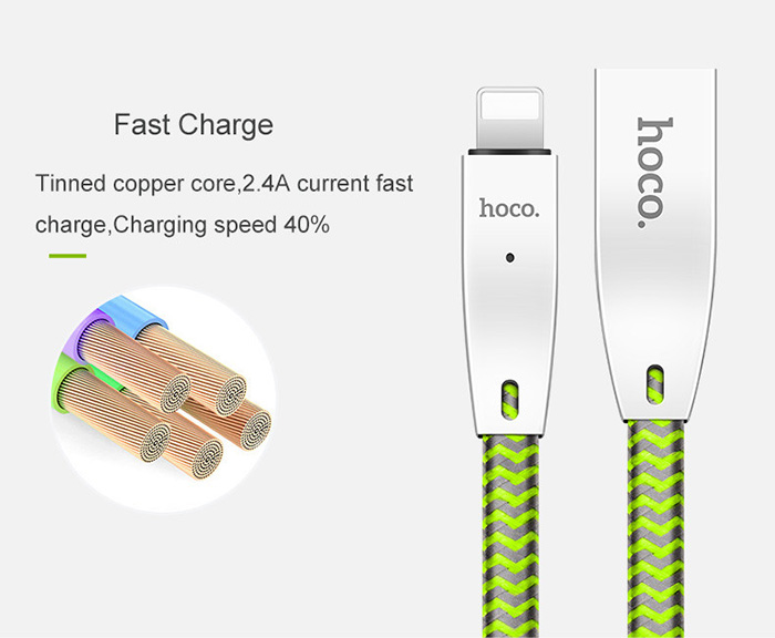 Dây cáp sạc tự ngắt Hoco U11 Lightning cho iphone 7