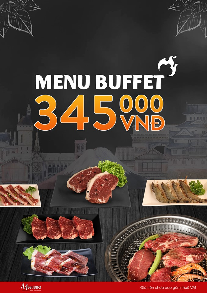 Meat BBQ Menu Buffet 345K (Hotpot & BBQ)