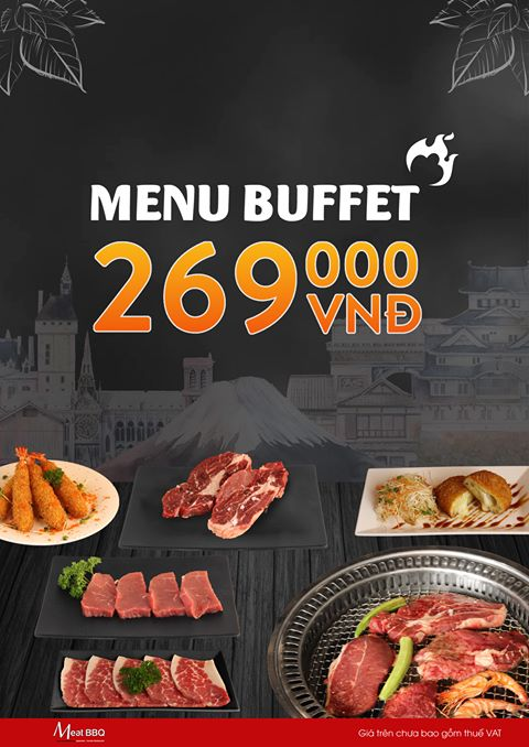 Meat BBQ Menu Buffet 269K (Hotpot & BBQ)