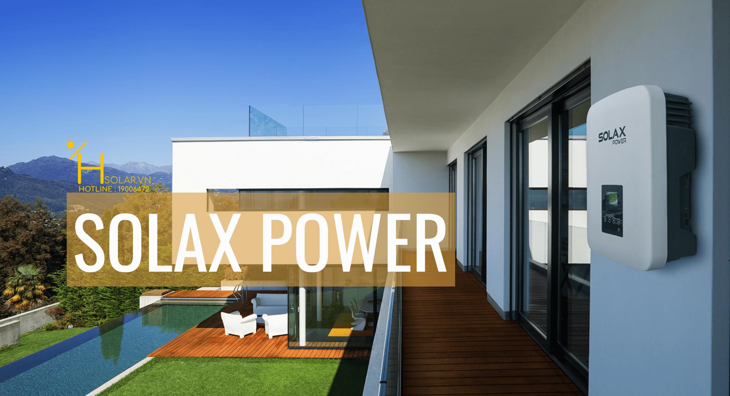 Bộ inverter hòa lưới điện mặt trời 3 phase Solax X3