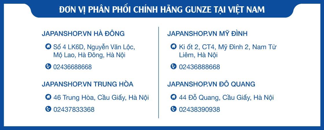 địa chỉ phân phối chính hãng Gunze tại Việt Nam