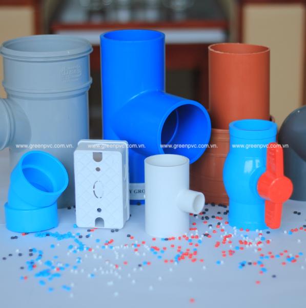 Hạt PVC Compound cứng: ép phụ kiện