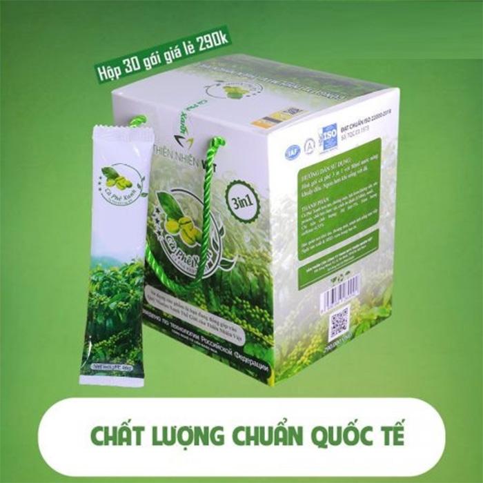 Cà phê xanh giảm mỡ Thiên Nhiên Việt hộp 30 gói
