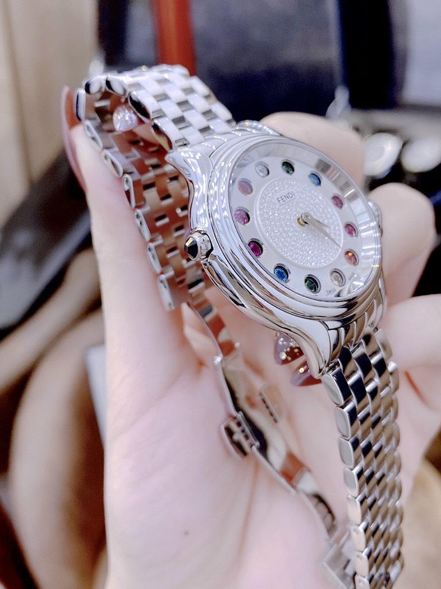 ĐỒNG HỒ CAO CẤP FENDI CRAZY CARATS DIAMOND 38mm - MÁY THỤY SỸ - CHỐNG NƯỚC 3ATM