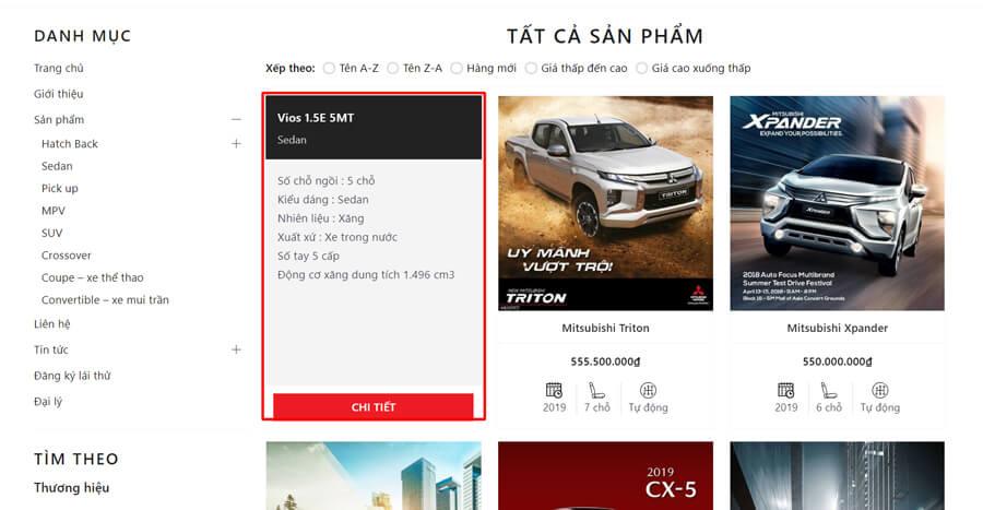 Evo Car thông tin sản phẩm