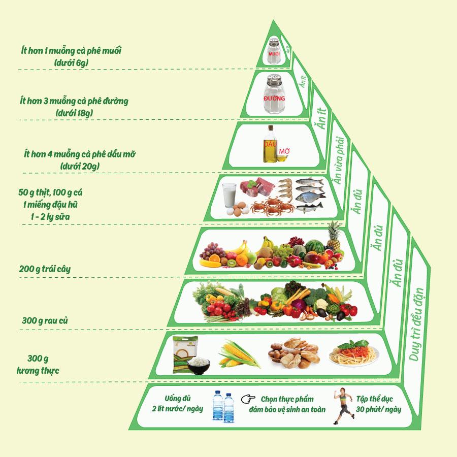 tháp dinh dưỡng cho người việt