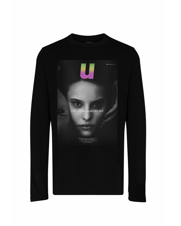 Faces Graphic Printed Long Sleeve T-Shirt
