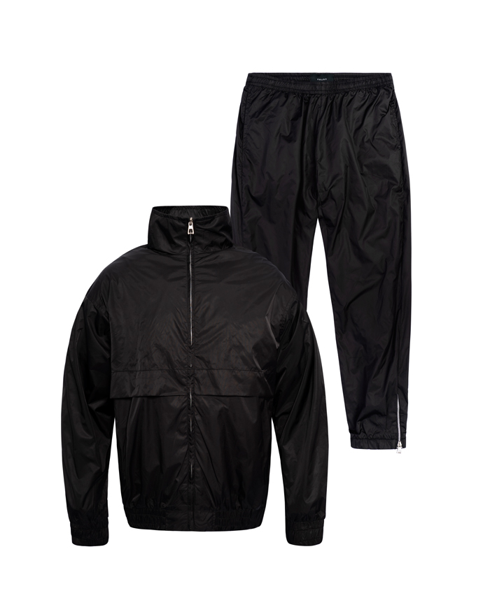 Black Windbreaker Set