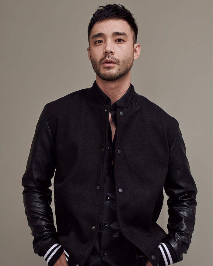 Leather Mixed Varsity Jacket