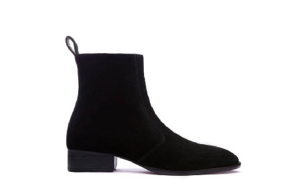 Zipped Coffee Suede Chelsea Boots