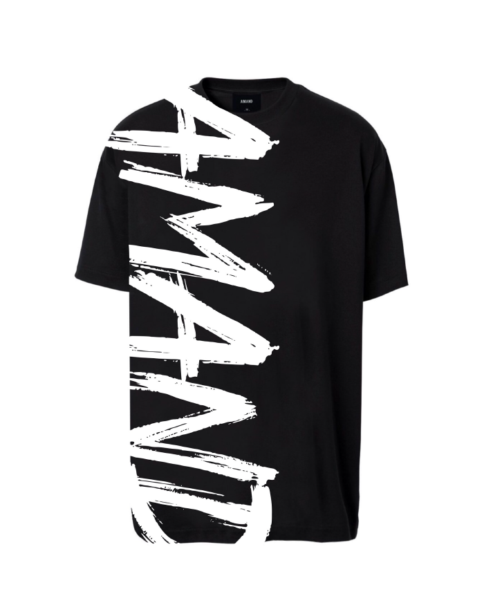 Vertical Text Printed T-Shirt