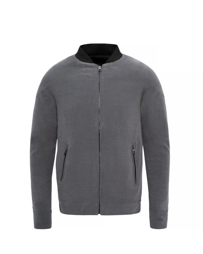 Grey Silk Coat