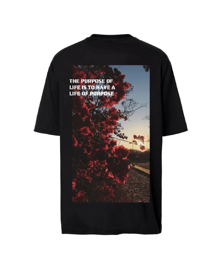 Printed Black T-Shirt