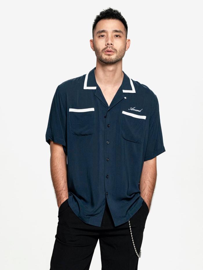 Signature Navy Cuban Shirt