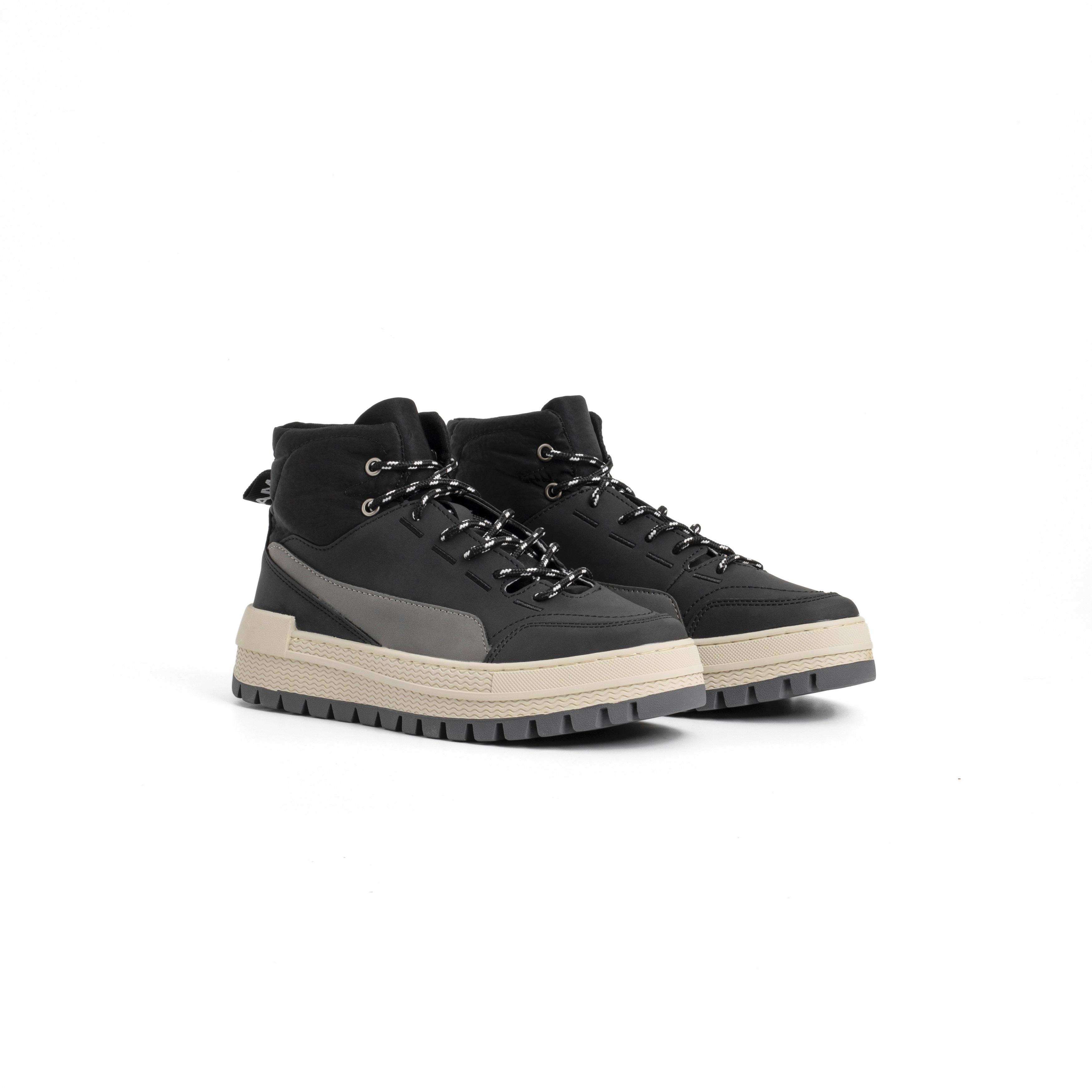 Black Hiker Sneakers