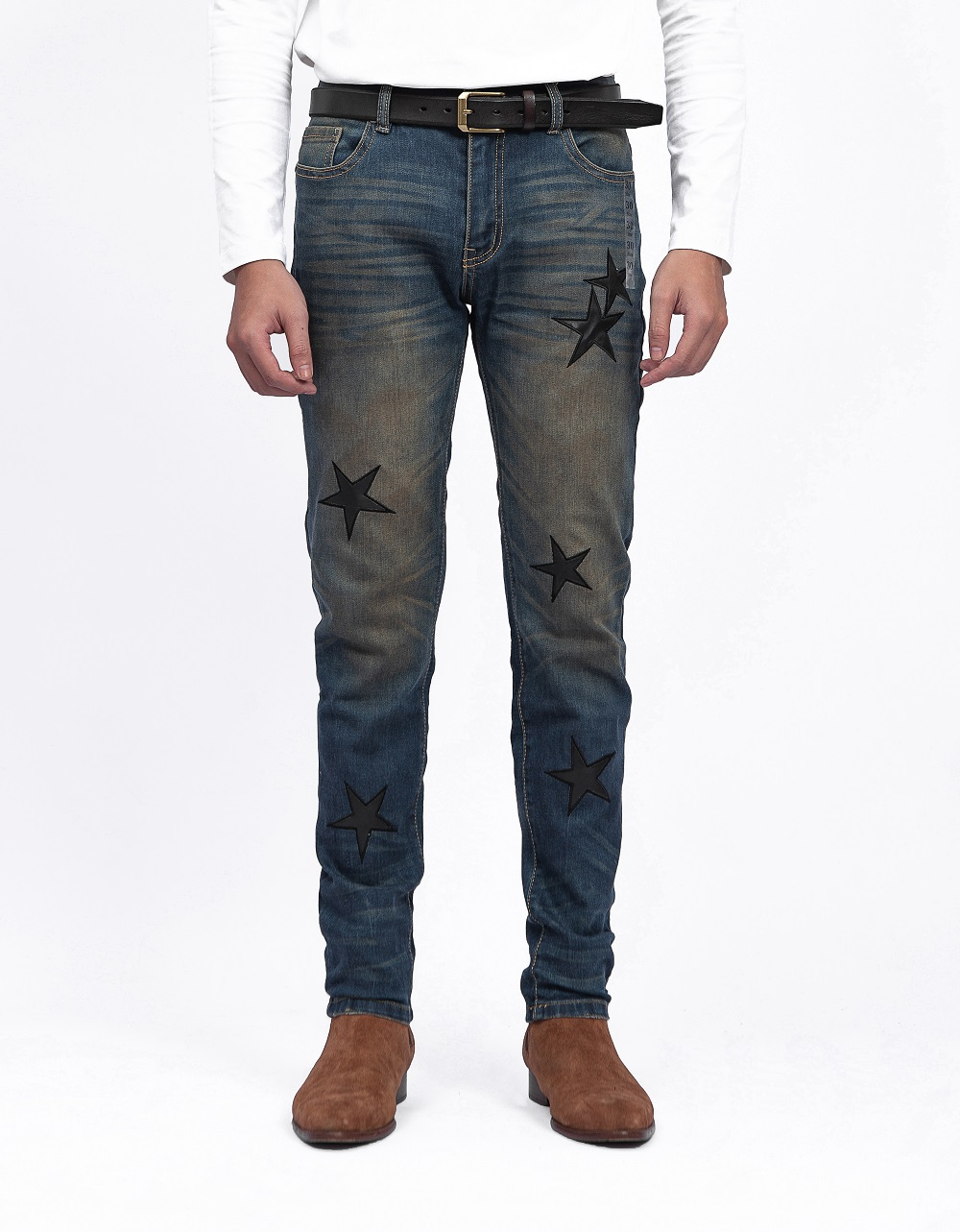 Leather Star Jeans