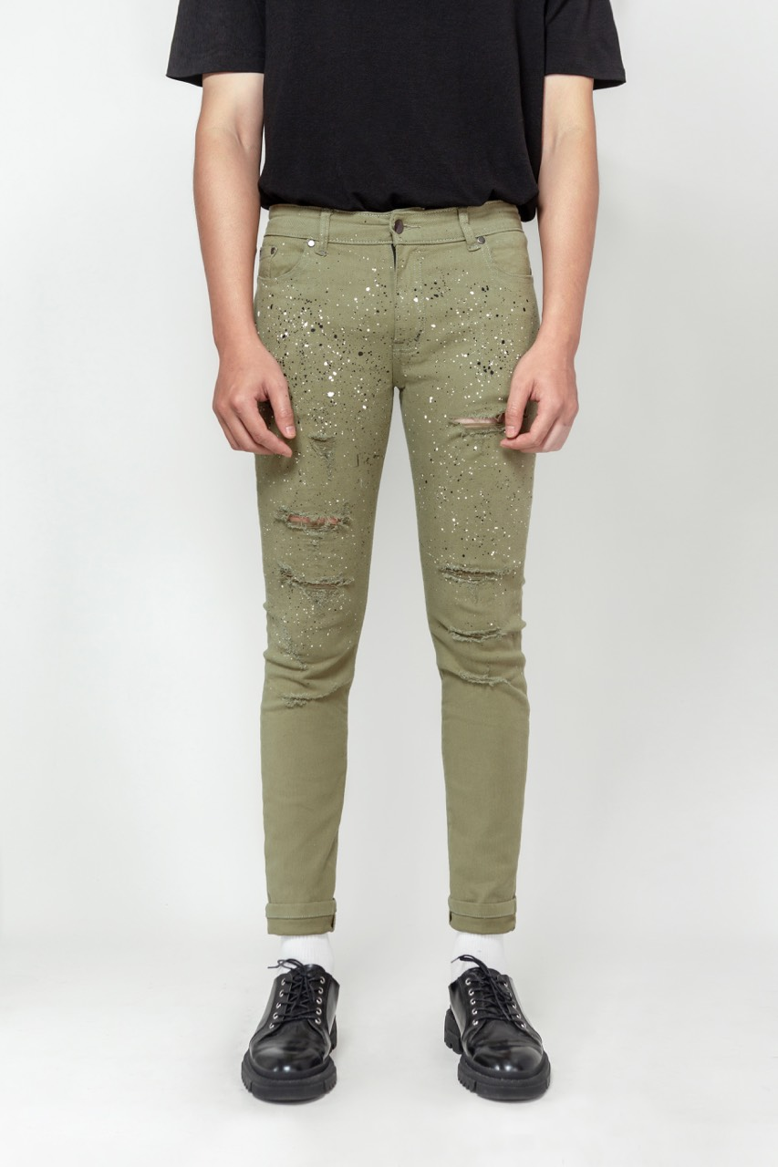 Paint Dot Skinny Jeans