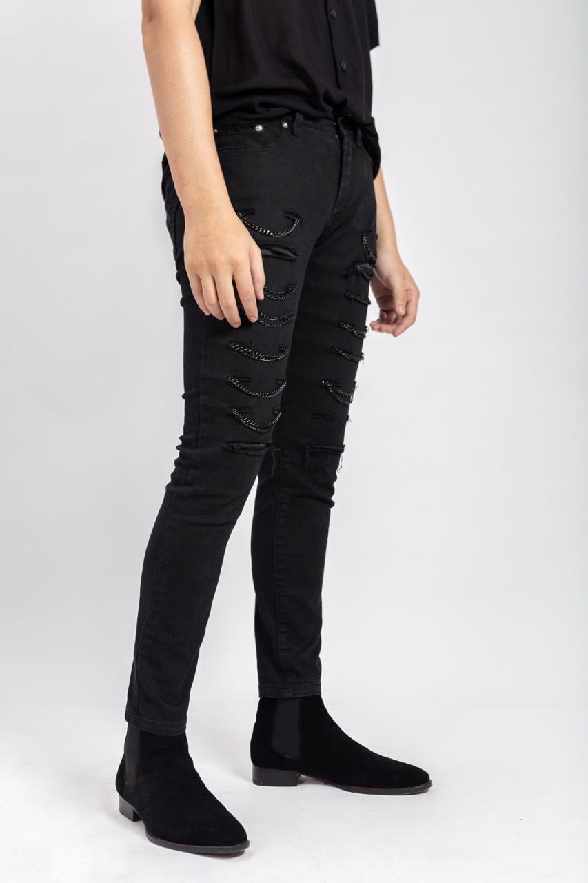 Chain2chain Black Jeans